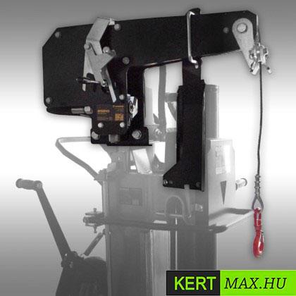 fahasító, tüzifahasító, rönkhasító, Kohler motor, hidraulikus fahasító, csörlő,